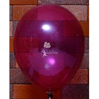 Burgundy Crystal Plain Balloon