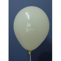 Cream Crystal Plain Balloon