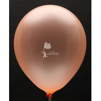 Neon Orange Crystal Plain Balloon
