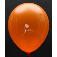 Orange Crystal Plain Balloon