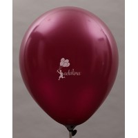 Burgundy Metallic Plain Balloon