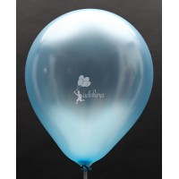Light Blue Metallic Plain Balloon