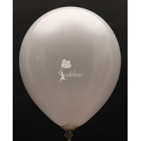 White Metallic Plain Balloon