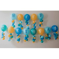 Boy Happy Birthday Alphabet Printed Balloons