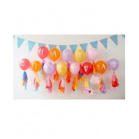 General Happy Birthday Alphabet Printed Balloons