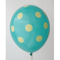 Tosca - Lemon Yellow Polkadots Printed Balloons