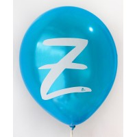 Dark Blue Metallic Alphabet A-Z Printed Balloons