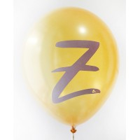Gold Metallic Alphabet A-Z Printed Balloons