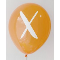 Orange Crystal Alphabet A-Z Printed Balloons