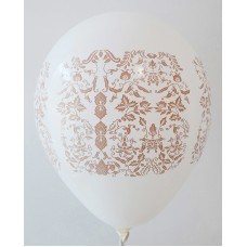 White - Brown Batik Printed Balloons