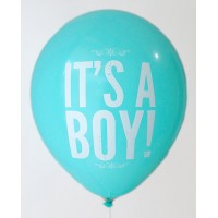 Azure It's A Boy Printed Balloons