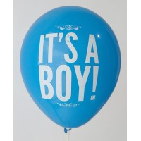 Royal Blue It's A Boy Printed Balloons