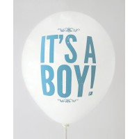White It's A Boy Printed Balloons
