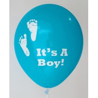 Dark Blue It's A Boy Printed Balloons