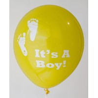 Lemon Yellow It's A Boy Printed Balloons