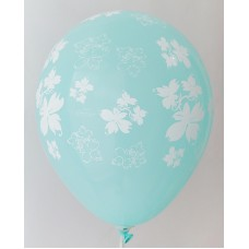 Azure Flowers Printed Balloons