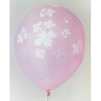 Rose Flowers Printed Balloons
