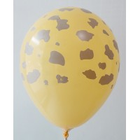 Golden Yellow Giraffe Printed Balloons