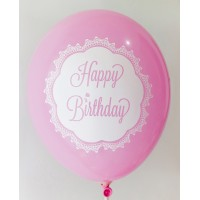 Rose Happy Birthday 1 Side Printed Balloons