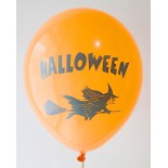 Orange Halloween Printed Balloons