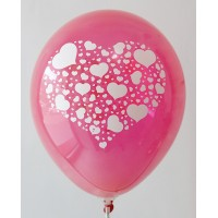 Red Hearts Printed Balloons