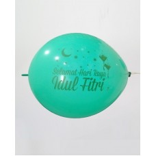 Light Green Idul Fitri Printed Balloons