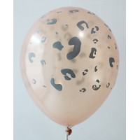 Copper Leopard Design Printed Balloons