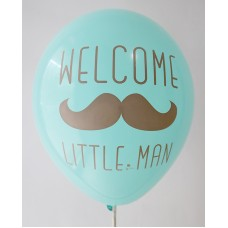 Azure Welcome Little Man Printed Balloons