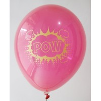 Red Pow Design Printed Balloons