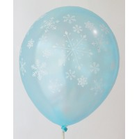 Light Blue Snow Flakes Printed Balloons