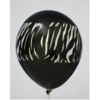Black Zebra Design Printed Balloons