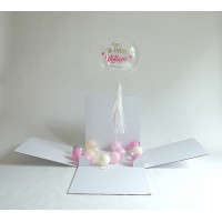 Plain Surprise Box Single Personalized Bubble