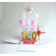 Personalized Surprise Box Personalized Bubble + Number Foil + Helium
