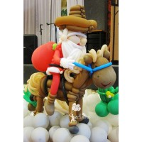 Santa on a horse Balloon Character