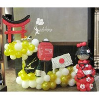 Japanese Doll Balloon Character theme Balloon Art