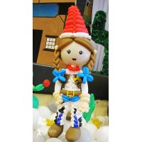 Cowgirl Balloon Character